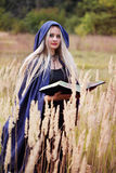 Woman taught witchcraft Stock Photo