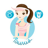 Woman With Taurus Zodiac Sign Royalty Free Stock Photo