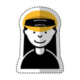 Woman taxi driver avatar Royalty Free Stock Image