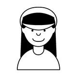 Woman taxi driver avatar Royalty Free Stock Images