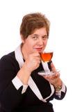 Woman with tea Stock Photos