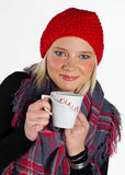 Woman with tea cup Royalty Free Stock Photography
