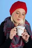 Woman with tea cup Stock Photos