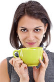 Woman with a tea cup Stock Images