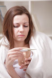 Woman with tea cup Stock Image