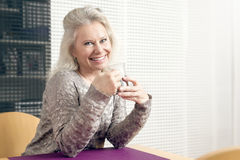 Woman and tea Royalty Free Stock Photo