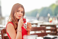 Woman with tea Royalty Free Stock Photos