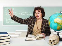 Woman teacher Stock Photo