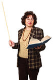 Woman teacher with book Royalty Free Stock Images