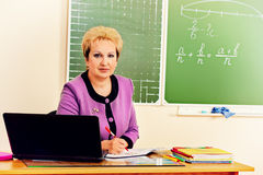 Woman teacher Stock Photo