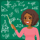 Woman Teaching Maths. Beautiful young African American woman scientist teaching maths Royalty Free Stock Images