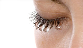 Woman tears Royalty Free Stock Photography