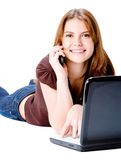 Woman With Technology Stock Images