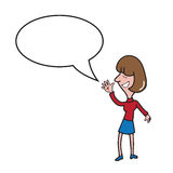 Woman teen speech balloon Royalty Free Stock Images