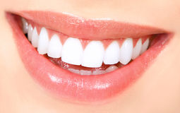 Woman teeth. Beautiful young woman teeth. Close up Royalty Free Stock Image