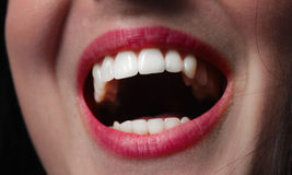 Woman teeth smiling mouth. Woman teeth close up smiling mouth Stock Photo