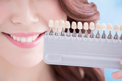 Woman teeth whitening concept Stock Images