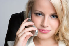 Woman on Telephone Stock Photo
