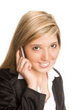 Woman telephone Stock Images
