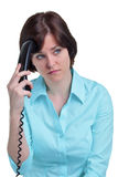 Woman on the telephone Royalty Free Stock Photos