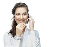 Woman with telephone Royalty Free Stock Photo