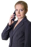 Woman with telephone Stock Photos