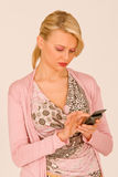 Woman at telephone Stock Photo