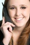 Woman on Telephone Stock Photo