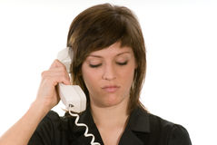 Woman on telephone Stock Photos