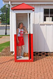 Woman on telephone stock images