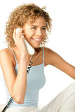 Woman telephoning Stock Photography