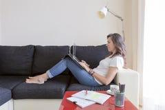 Woman teleworking Royalty Free Stock Photos