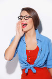 Woman telling gossip. Stock Photography