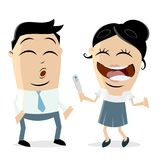 Woman telling man that she is pregnant. Clip-art of a woman telling man that she is pregnant Royalty Free Stock Photos