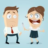 Woman telling man that she is pregnant. Clipart Royalty Free Stock Images