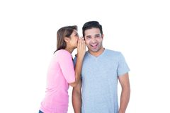 Woman telling secret to her partner Royalty Free Stock Photography