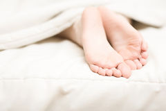 Woman tender foots Royalty Free Stock Photos