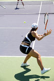 Woman tennis. Woman playing tennis at the professional tournament Royalty Free Stock Photos