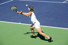 Woman tennis. Woman playing tennis at the professional tournament Royalty Free Stock Image