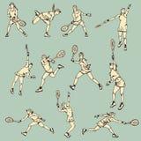 Woman Tennis Action Sport Stock Image