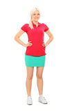 Woman in tennis outfit posing Royalty Free Stock Photography