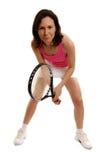 Woman Tennis Player. On white background Royalty Free Stock Photos