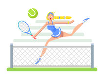 Woman tennis player Royalty Free Stock Photography