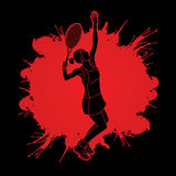 Woman tennis player serve Royalty Free Stock Photography