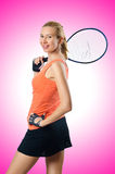 Woman tennis player Royalty Free Stock Photos