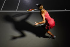 Woman tennis player Stock Images