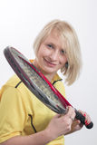 Woman with a tennis racket Royalty Free Stock Photo