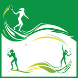 Woman tennis vector Stock Images
