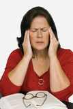 Woman With Tension Headache Stock Photo