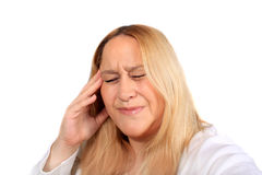 Woman with tension headache pain Stock Image